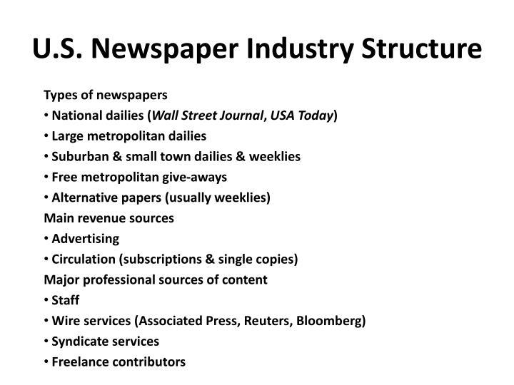 U.S. Newspaper Industry Structure