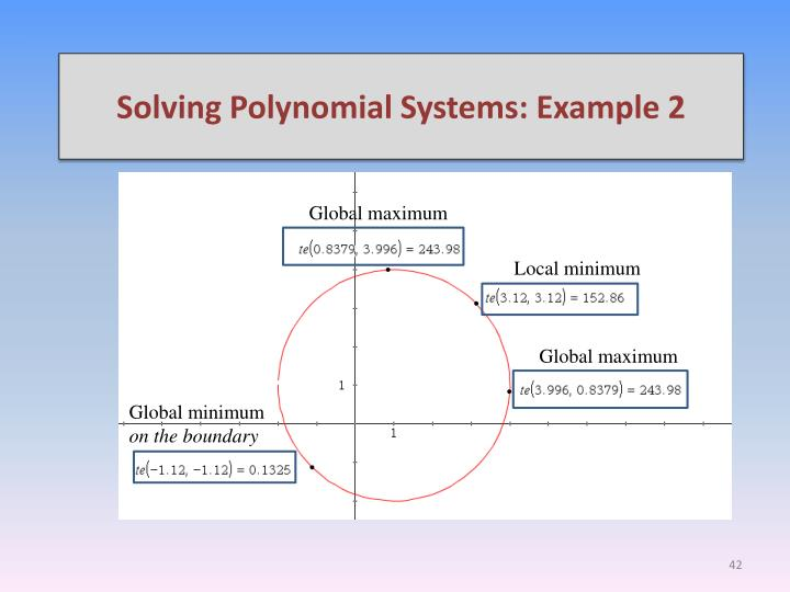 Solving Polynomial Systems: Example 2