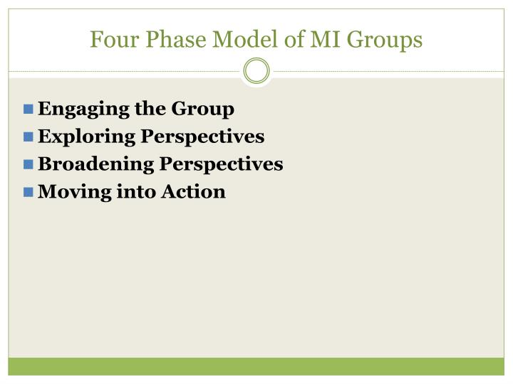 Four Phase Model of MI Groups