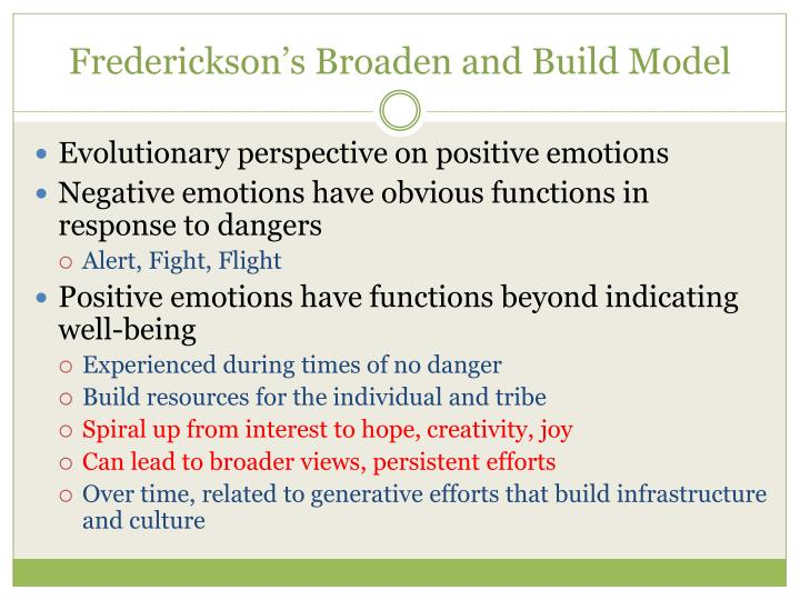Frederickson s broaden and build model