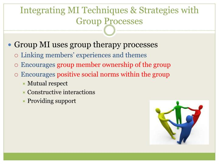 Integrating MI Techniques & Strategies with Group Processes