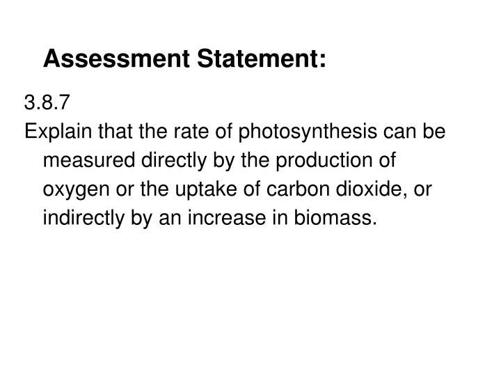 Assessment Statement: