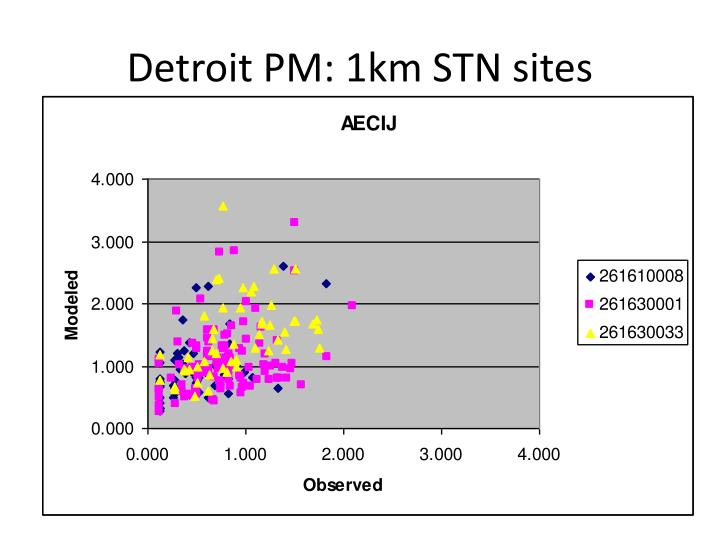 Detroit PM: 1km STN sites