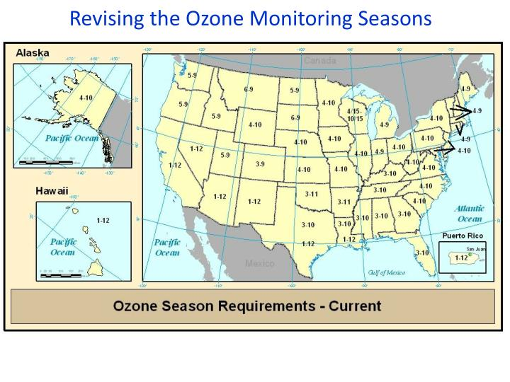 Revising the Ozone Monitoring Seasons