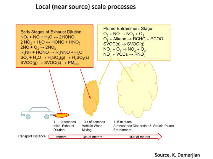 Local (near source) scale processes
