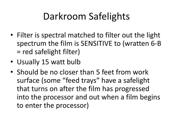 Darkroom Safelights
