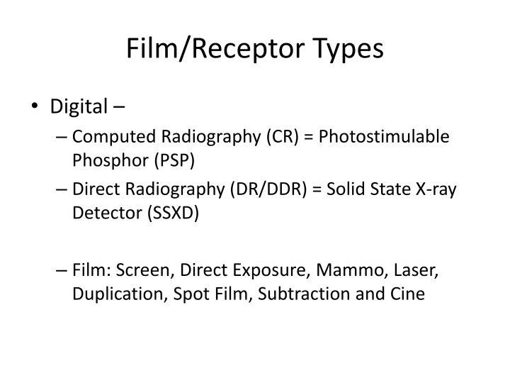 Film/Receptor Types