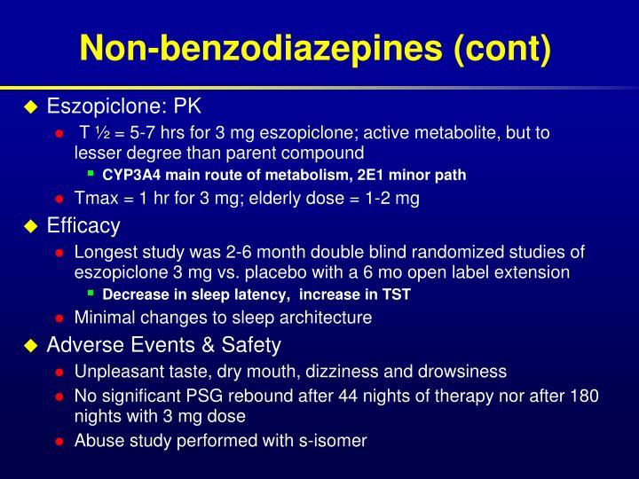 Non-benzodiazepines (cont)