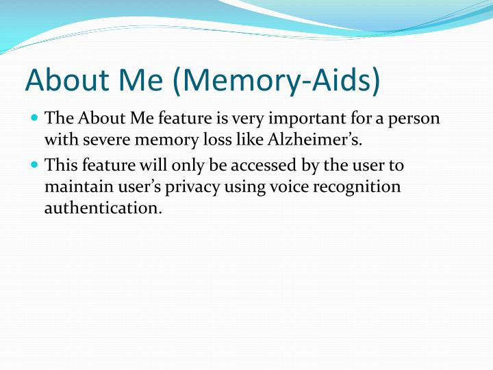 About Me (Memory-Aids)
