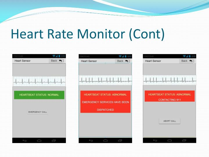 Heart Rate Monitor (Cont)
