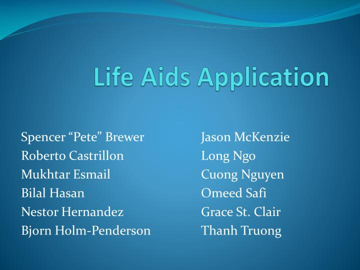 Life aids application