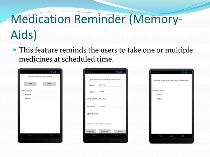 Medication Reminder (Memory-Aids)