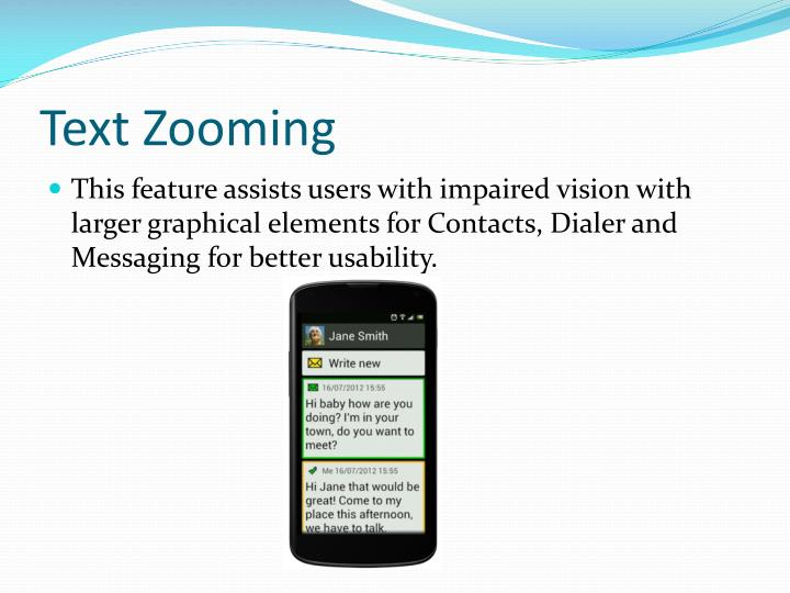 Text Zooming