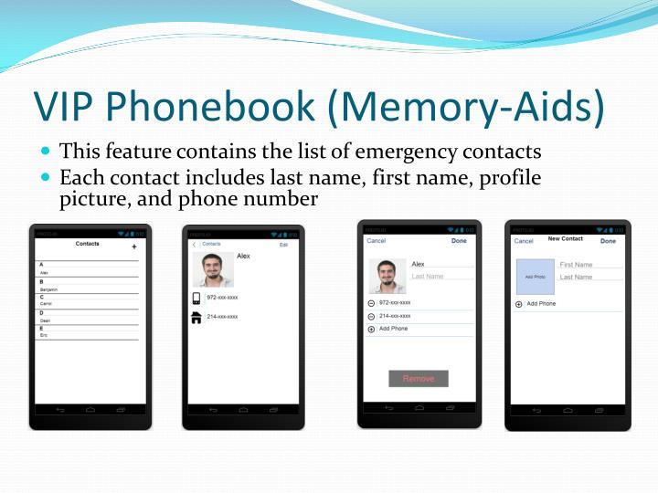 VIP Phonebook (Memory-Aids)