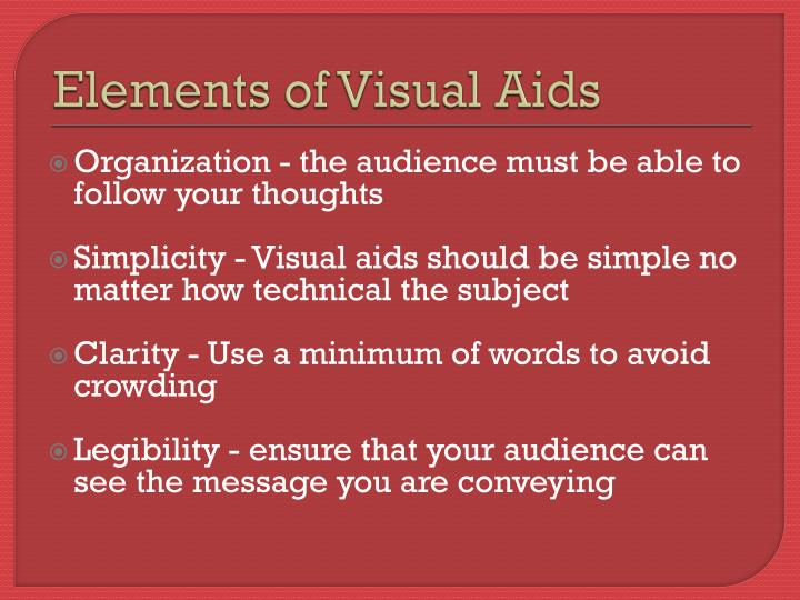 Elements of Visual Aids