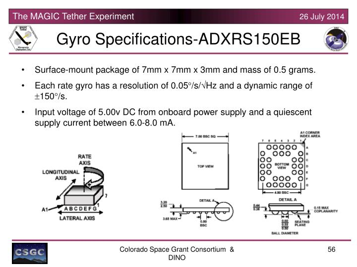 Gyro Specifications-ADXRS150EB