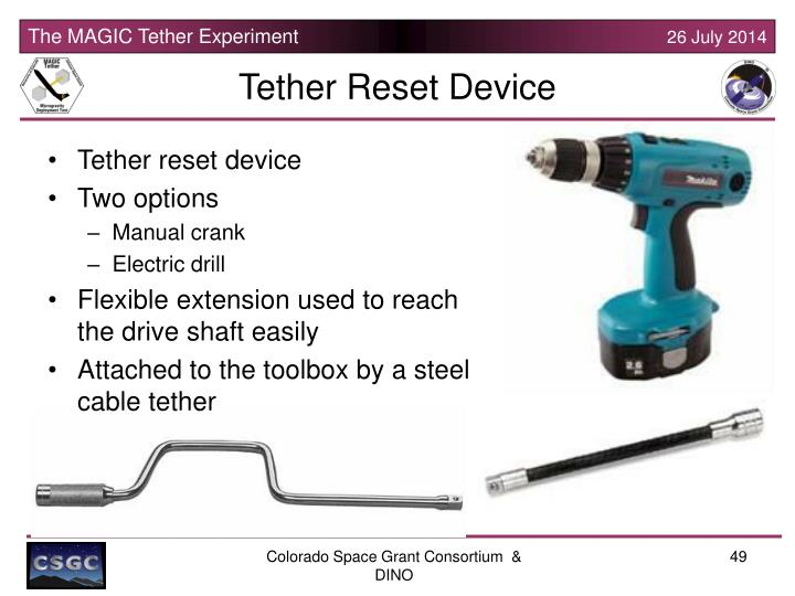 Tether Reset Device