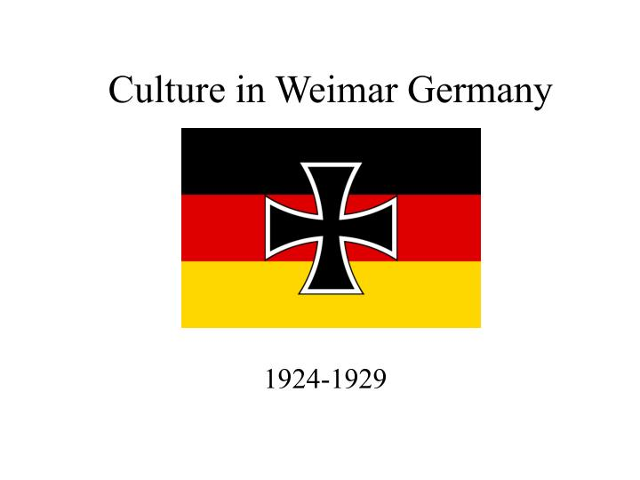 Culture in weimar germany