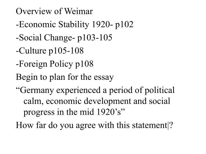 Overview of Weimar