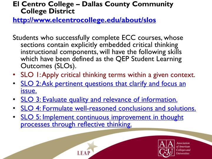 El Centro College – Dallas County Community College District