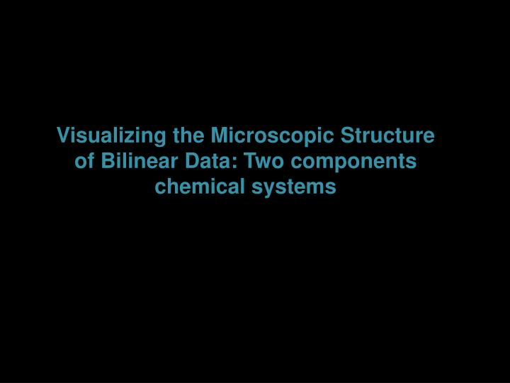 Visualizing the Microscopic
