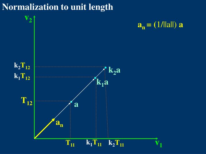 Normalization to unit length