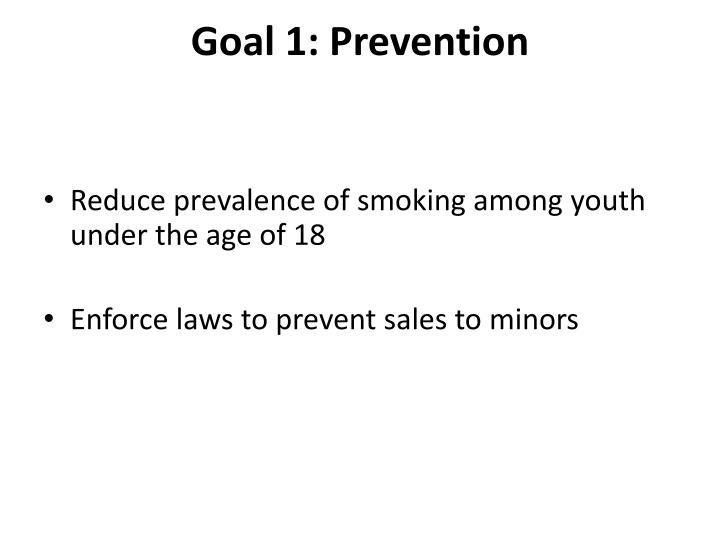 Goal 1: Prevention