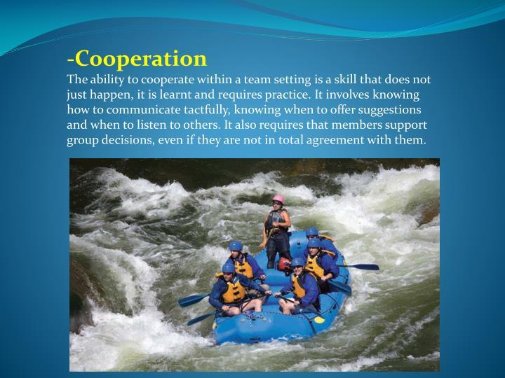 -Cooperation