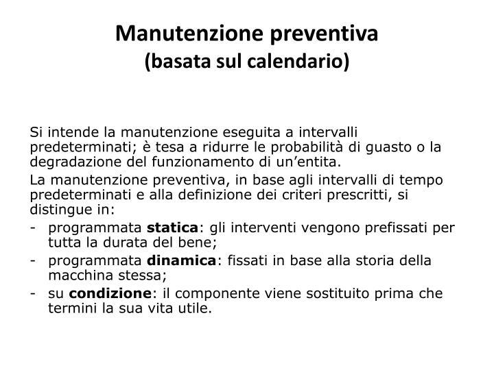 Manutenzione preventiva