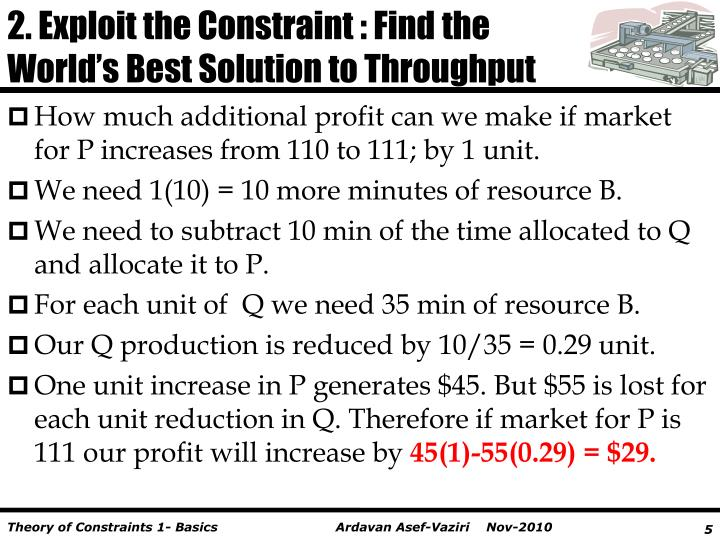 2. Exploit the Constraint : Find the