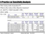 a practice on sensitivity analysis1