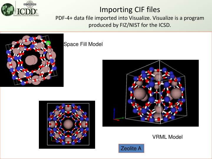 Importing CIF files