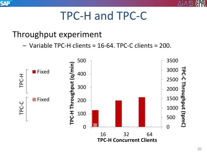 TPC-H and TPC-C