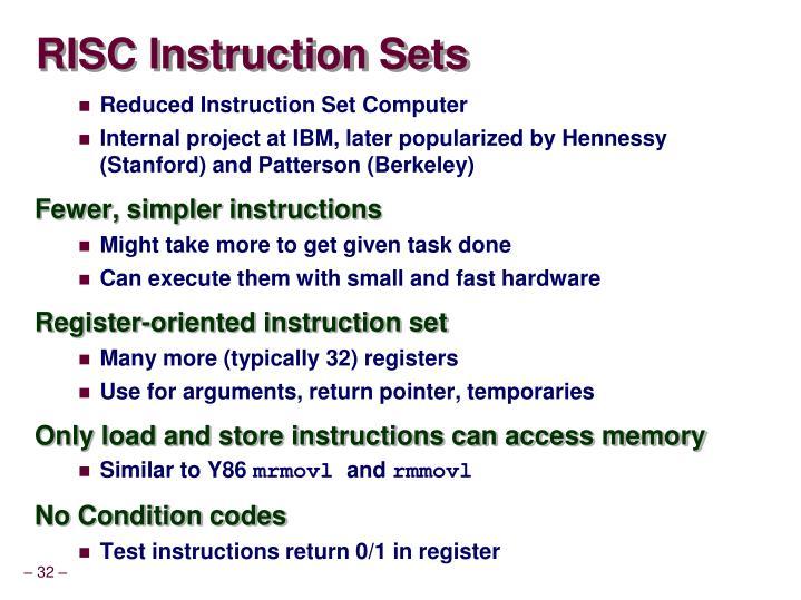 RISC Instruction Sets