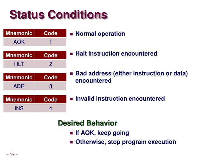 Status Conditions
