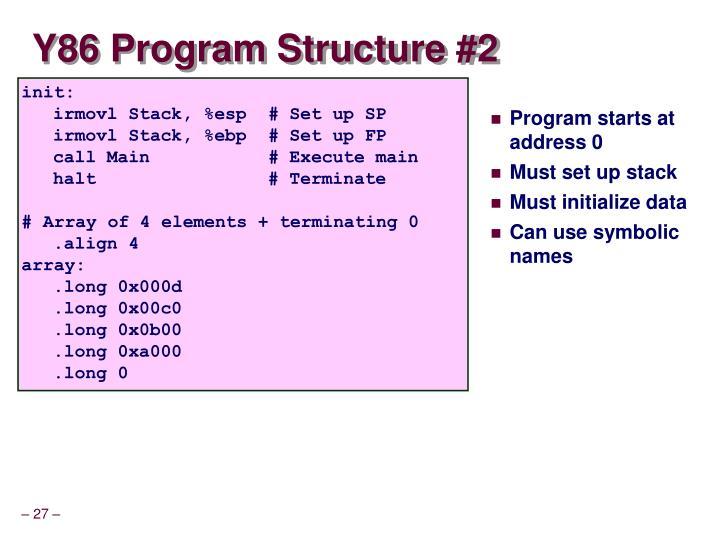 Y86 Program