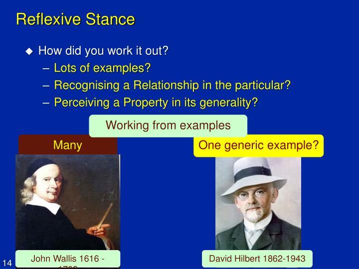 Reflexive Stance