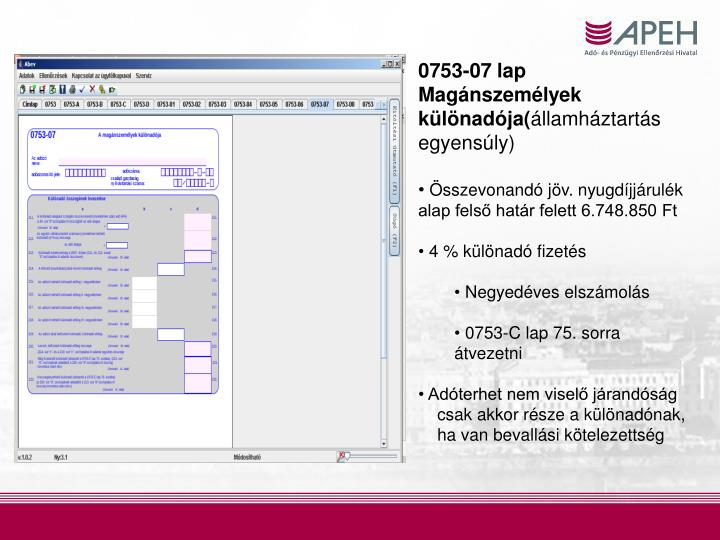 0753-07 lap Magánszemélyek különadója(
