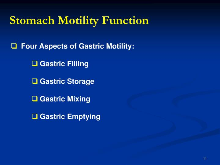 Stomach Motility Function