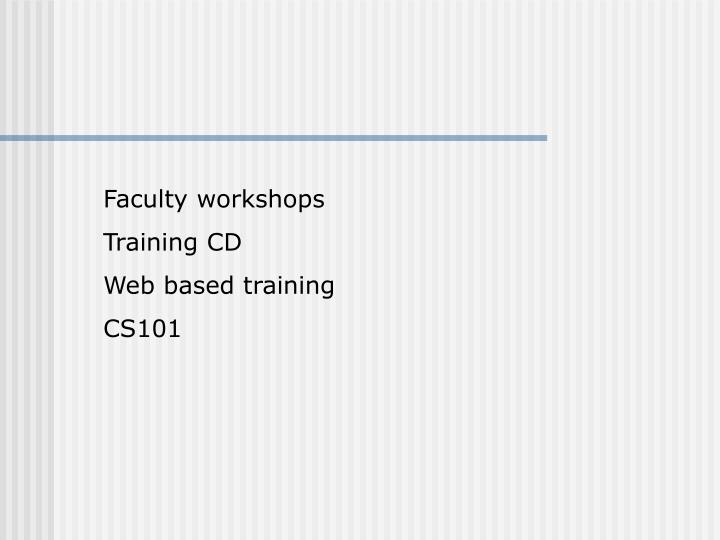 Faculty workshops