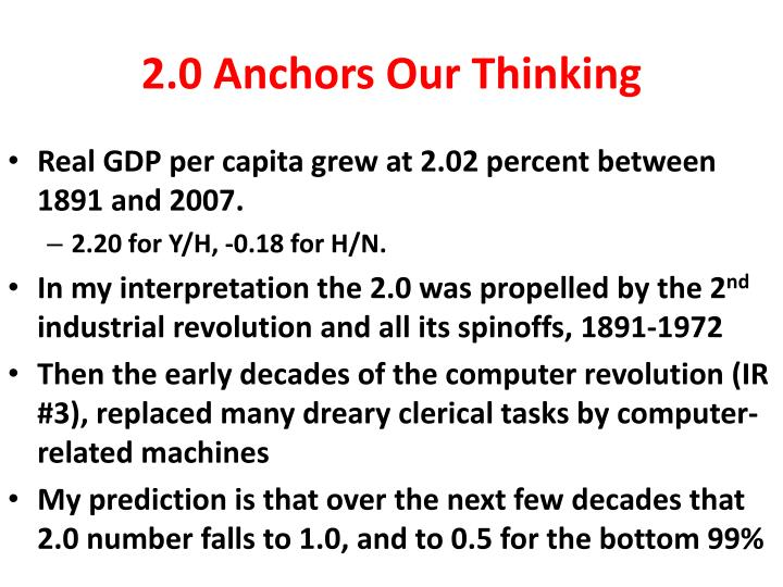 2.0 Anchors Our Thinking