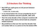 2 0 anchors our thinking