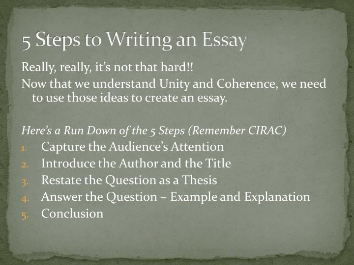 5 Steps to Writing an Essay