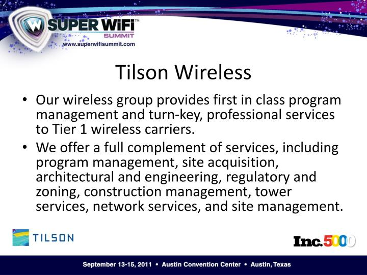 Tilson wireless