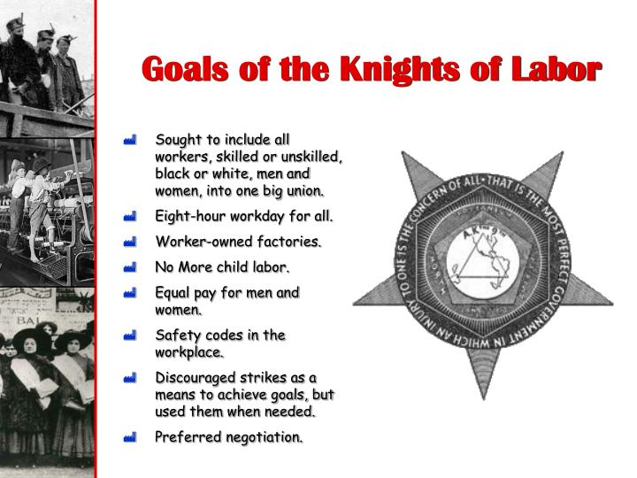 Goals of the Knights of Labor