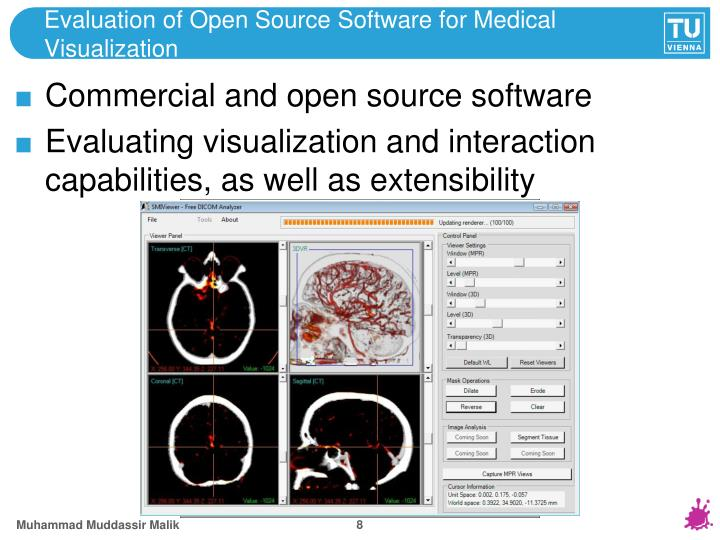 Evaluation of Open Source Software for Medical Visualization