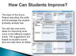 how can students improve