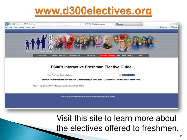 www.d300electives.org