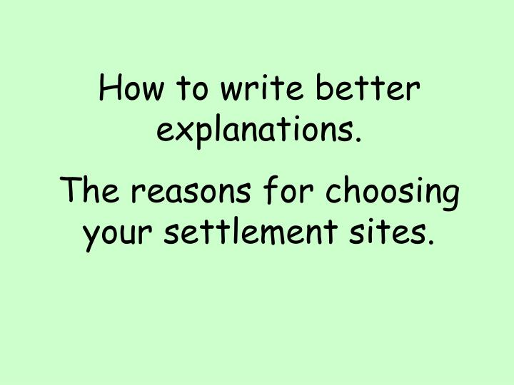 How to write better explanations.