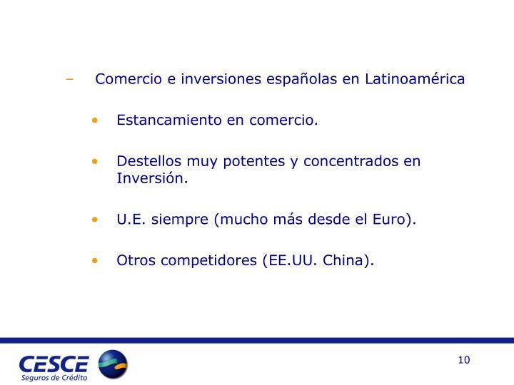 Comercio e inversiones españolas en Latinoamérica